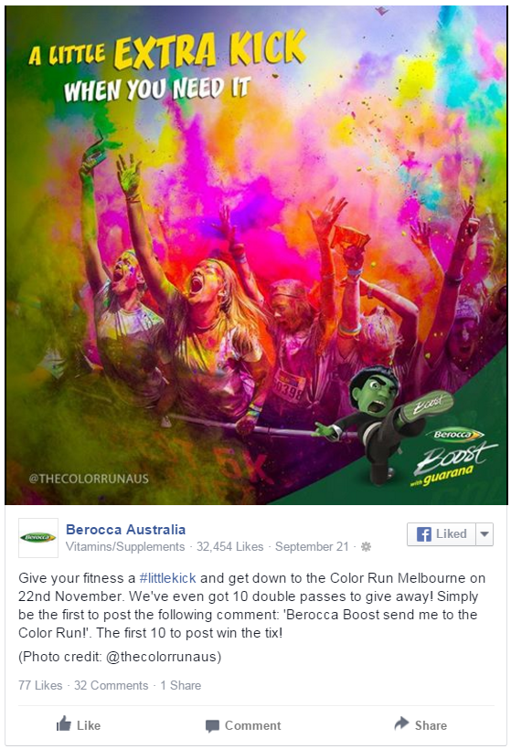 berocca color run promotion