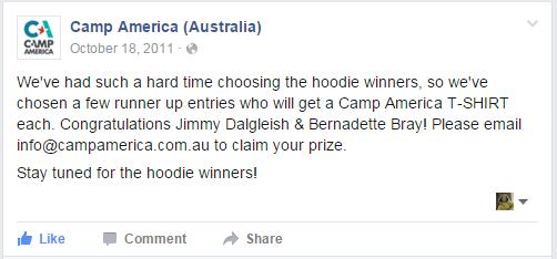 camp america hoodie winners