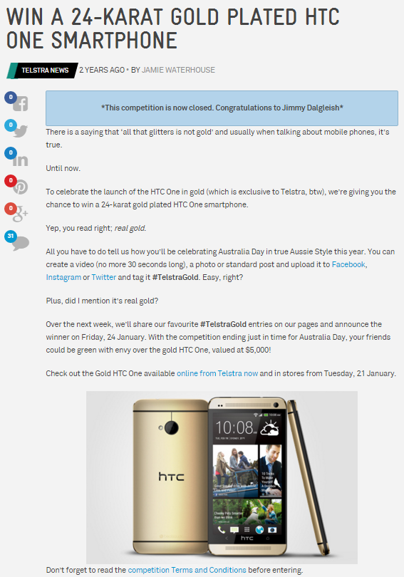 htc 24 carat gold plated phone winner