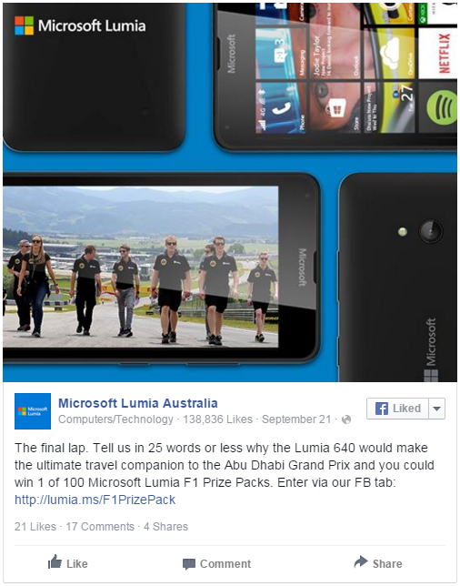 microsoft lumia promotion winner